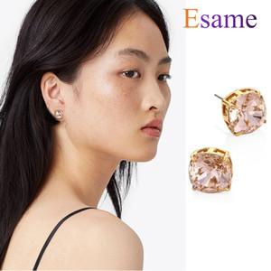 Golden Stud Rose Rose Crystal Crystal Zircon Boucles d'oreilles Boucles d'oreilles femmes Minimaliste Personnalité européenne et américaine