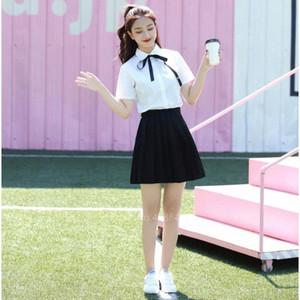 Japon Stili Anime Koleji Okul Üniforması Kore Kız Kadın Etek Studen Elbise Seksi JK Pileli Gömlek Moda Cosplay Kostüm KHKg #