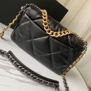 2020 роскошных сумок дизайнер 19 сумки женщины Lambskin Кроссбодите сумку из мягкой кожи большого тотализатора кошелька бренд толстой цепи плечо сумки