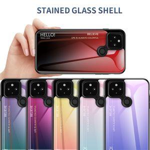 İnce İnce Gradyan temperli cam Telefon Kılıfı İçin Google Piksel 5 XL 4A 4 3A XL 3A 3 XL 2 x L