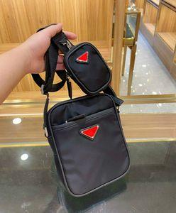 Мужские и женские сумки для поперечины сумки дизайнера Мини размер сплошной черный цвет с карманами PD20092503