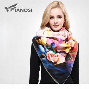[VIANOSI] Winter Scarf Women Digital Printed Female Brand Warm Cashmere Soft Shawl Scarves For Women VA055