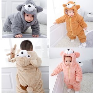 Children Clothing New Born Baby Girl Clothes Extra Thick Cotton Padded One-piece Clothes For Going Out DHL