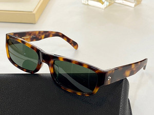 40087 Uomini e donne Occhiali da sole Anti-ultravioletto UV-400 Model Square Frames Rete Rosso Stessa moda Retro Moda Italian Imported Plate Full frame Box