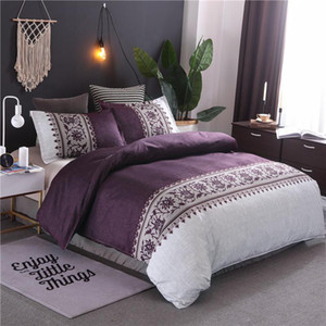 Brief Duvet Cover Set 3pcs Bed Set Twin Double Queen size Bed linen Bedclothes bedding sets(No Sheet No Filling)20