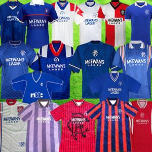 الرجعية 1987 1990 1992 1994 1994 1995 1996 1997 1999 2000 Glasgow Rangers Soccer Jerseys 92 94 أطقم أزرق خمر Gascoigne Classic Compots