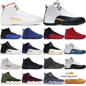 popular 12s Men Basketball Shoes Dark grey Flu Game Running Sneakers for EUR 40-47 Winter black CNY Designer Trainers
