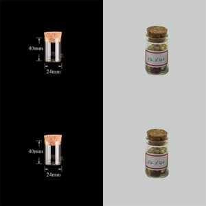 10ml petit tube à essai avec bouchon de liège verre bouteilles de bouteilles de bouteilles de conteneur de conteneurs 24 * 40mm bricolage artisanat transparent bouteille en verre droite HH 20 N2