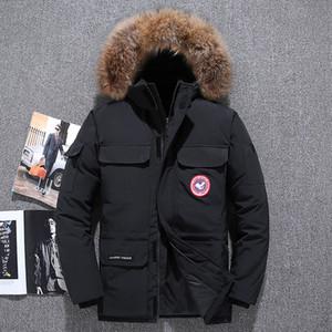 Black Friday Specialwinter Down Jacket Herren Kurz verdickt 2020 Neue Mantel Kanadische Stil Outdoor Mode Gänse Paar Arbeitskleidung 2 Q837