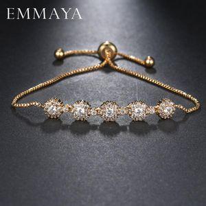 Bracelet Bracelet de qualité supérieure Emmaya pour femme brillante CZ Gold Color Bijoux Pulseira Feminina