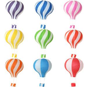 ورقة فانوس الهواء الساخن بالون بالون لونين الربط قوس قزح أضعاف الفوانيس تزيين حزمة OPP بيع جيدا مع نمط مختلف 3 8ly3 J1