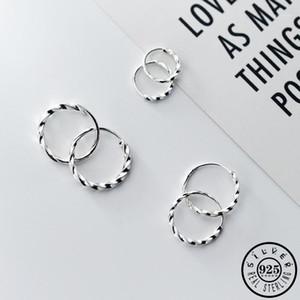 Fashion 925 Sterling Silver Small Huggie Hoops Piercing Earrings Trendy Korean Round Circle Ear Rings Earings Jewelry for Women1
