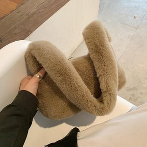Soft Faux Fur Small Shoulder Bags for Women 2021 Winter Trend Handbags Women's Trending Designer Trending Hand Bag