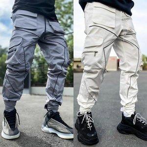 2020 Mens Casual Pants Fitness Men Sportswear Men Reflective Strips Trousers Jogging Pants man sportswear luminous pencil