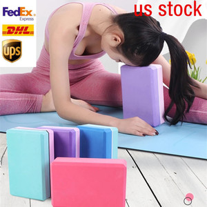 US Stock 3 Days Delivery EVA Waterproof Yoga Blocks Women Pilates Foam Brick Fitness Gym Home Workout Equipment Exercise Accessories FY6154