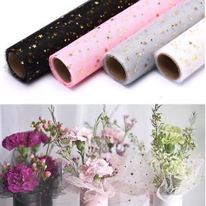 Sequins yıldız ay dantel örgü çiçekler ambalaj kağıt hediye paketleme malzemeleri