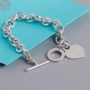 925 Sterling Silver jewelry tif couple bracelets for women men fashion bracelets Free Shipping 1028