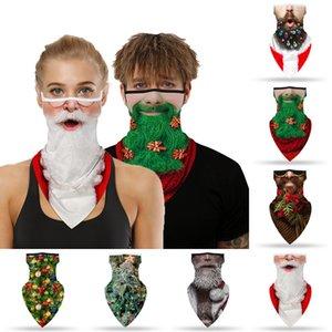 Natal Rosto Scarf Papai Noel Imprimir Seamless Gancho Sports Scarf Neck Tubo Caminhadas Lenços cobrir o rosto equitação face