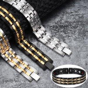 Vinterly Handgelenk-Band-Magnet-Armband Männer Edelstahl-magnetisches Armband Männliche Energie Germanium Hologram für Männer 2020