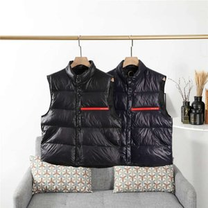 Erkekler Ceket Aşağı Yelek Parkas Coat Moda WINDBREAKER İçin Erkekler Kadınlar Button'un Ceket Coat Kolsuz ile Kalın Coat Yelekler ısıtın ..