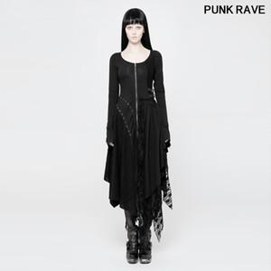 Klasik Moda Asimetrik Cadı Hat Dantel Cadılar Bayramı Elbise Punk'ın seksi Kadınlar Örme Decadent performans Elbiseler PUNK RAVE WQ-368U 1110