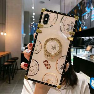 Caso de telefone quadrado de luxo para Samsung Galaxy S21 Ultra S20 Fe Plus Note 20ultra A42 A52 A32 A71 A51 5G A12 A31 A21S A21 A11 para iPhone