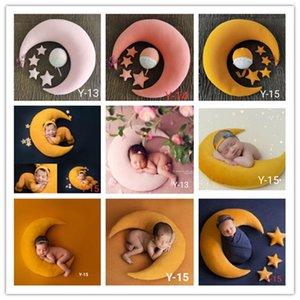 5-6pcs / set Newborn Photography Props Accesorios Bebé posando almohada Crescent Almohada + Estrellas + Hat Studio Baby Photo Props Fotografi Q1222