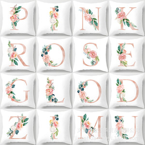 gift Valentine's Day Nordic ins style Pillow Case Pink Rose letter peach skin pillow cover sofa cushion cover