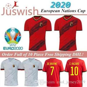 2020 Belgium home LUKAKU HAZARD KOMPANY DE BRUYNE MERTENS Soccer Jersey Adult man and kids kit sports football shirt