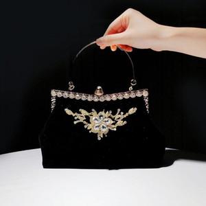 2020 nouveau sac d'embrayage femelle cheongsam style chinois style soir sac de sac mariée mariage banquet rouge manquet gold sac à main