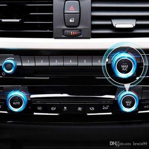 Car Styling Aire acondicionado perillas Audio Circle ajuste de la cubierta del anillo de BMW 1 2 3 4 5 6 7 Series Gt X1 X5 X6 F30 F32 F34 F10 F15 F45 F01 E70 E71
