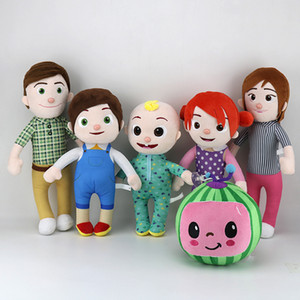 Cute 15-33cm Cocomelon Plush Toy Soft Cartoon Family Cocomelon Jj Family Sister Brother Mom And Dad Toy Dall Kid Chritmas Gifts