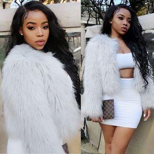 TOYHOUSE Hot Selling Winter Warm Faux Fur Fox Coat Jackets Long Sleeve Parka Plus Size Hair Jacket Coat Outwear