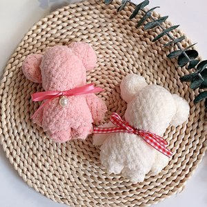Fashion Microfiber Creative Gift Bear Towel Super Absorbent Soft Dry Hair Towel Travel Bath Face Hand Towels many Colors Wedding birthday gi
