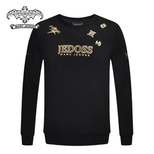 JEDOSS  juedis 2020 Autumn counter and new men's letter rhinestone gilding sweater trendy top
