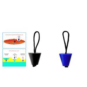 2pcs Rubber Kayak Canoe Scupper Plugs furos de drenagem Stoppers com corda