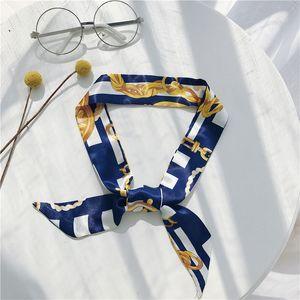 Retro Neue Mode Polka Dot Haarband Klassische Muster Druck Kleine Seidenschal Weibliche Simulation Seidenbündel Haarband