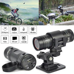 Kameralar Mini Kamera F9 HD 1080 P Bisiklet Motosiklet Kask Spor Kamera Video Kaydedici DV Derece Uzaktan Monitör1