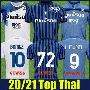 uniforme 20/21 Atalanta Futebol L.MURIEL 2019 2020 Atalanta BC maglia da calcio GOMEZ DUVAN Iličić futebol Jersey Freuler DE ROON