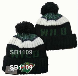 Миннесота Уайлд шапочка Winter Beanies Crucial поймать Мужчина Женщина Череп Cap Помпа Skullies Сценария наручники Спорт Knit Hat с PoM