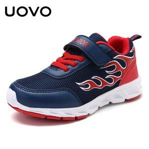 Uovo Детские кроссовки для мальчиков мода дышащие спортивные кроссовки мальчиков школьные туфли весна большая детская обувь размер 30 # -40 # 201130