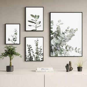 Eucalyptus Posters Botanical Canvas Painting Farmhouse Wall Decor Minimalist Art Pictures Bedroom Decoration Scandinavian Decor