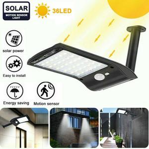 36 LED Solar Wall Light IP65 Street Light Automatic Light Sensing Dusk To Dawn Outdoor Courtyard Waterproof Motion Sensor Garden Lights