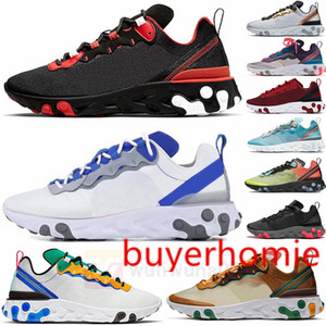 Airs React Element 55 react vision 87 Mens Running Shoes Bred Sail Bone Game Royal our Green Epic Women Trainers Runner Sports Sneakers