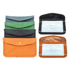 Tragbare Maske Organizer Tasche wasserdichte antibakterielle Maske Aufbewahrungstaschen Box Fünf Farbe für Auswahl und Logo Custom