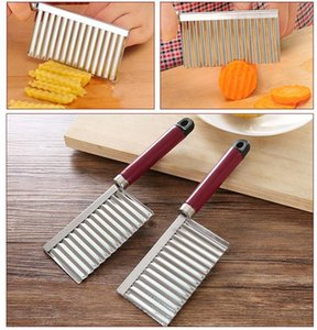 300pcs Potato Crinkle Wavy Edged Knife Stainless Steel Kitchen Gadget Vegetable Fruit Cutting Slicers SN3478