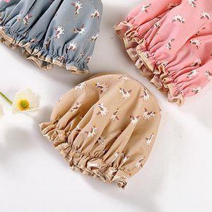 Prodotti cappelli cappello multicolor jllnac 1pcs strato layer poliestere doccia capelli copertura del fumetto cotone cotone bagno bagno impermeabile h doppio miftv