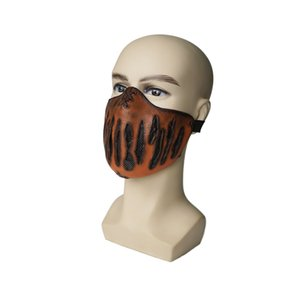 New creative latex Halloween face mask 7 styles personality creative half face stage makeup props designer horror face mask OWD2326