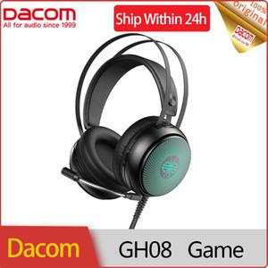 سماعات سماعات سماعات DACOM GH08 الألعاب سماعة 3.5 ملليمتر سلكية لعبة سماعة مع الصمام الخفيفة HD مايكروفون الصوت ستيريو للكمبيوتر المحمول هواتف الكمبيوتر المحمول