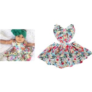 Wholesale INS Fashion kids  clothes Girl Elegant dress Sleeveless Love heart full flower design Princess dress charming girl dress